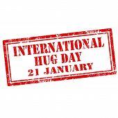 International Hug Day stamp
