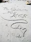 Ich liebe dich Handschrift, Szene am Strand