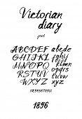Vintage inky handwritten font