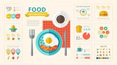 Food Infographic Elements.