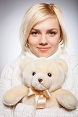 Girl With Teddy Bear.