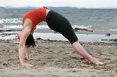 Yoga On The Beach-Backward Bend