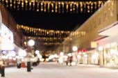 Defocused view of small swedish town
