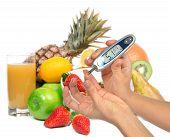 pic of blood test  - Diabetes diabetic concept - JPG