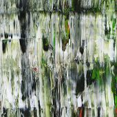 Close-up of abstract painting