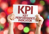 KPI card with colorful background with defocused lights