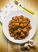 picture of sauteed  - meatballs with sauteed mushroom - JPG
