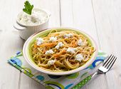 spaghetti with ricotta and carrots