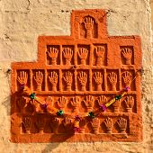Sati Handprints In Mehrangarh Fort, Jaipur, Rajasthan