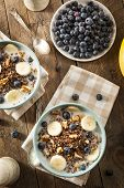 picture of quinoa  - Organic Breakfast Quinoa with Nuts Milk and Berries - JPG