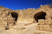 Warehouse ruins in Caesarea Maritima National Park
