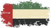 United Arab Emirates grunge flag. Vector
