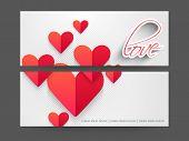 Website header or banner set design for Happy Valentines Day.