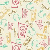 Colorful musical instrument on beige background.
