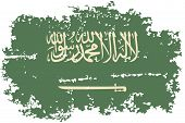 Saudi Arabia grunge flag. Vector illustration.