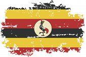 Uganda grunge flag. Vector illustration.