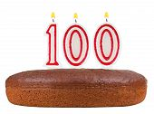 Birthday Cake Candles Number 100 Isolated