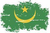 Mauritania grunge flag. Vector illustration.
