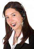 picture of telephone operator  - business operator  - JPG