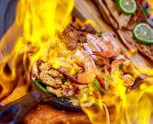 Fajita In Flame