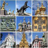 Saint Petersburg landmarks collage