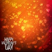 Happy Valentine's day background with shining heart of particles. Vector illustration for your greet