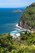 The coast of Pololu Valley