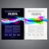 Vector illustration - business template page design with colorful abstract shape