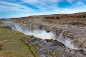 Dettifoss Waterfall In Iceland From Above
