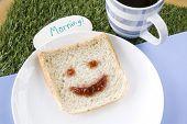 Smiley Bread For Breakfast