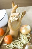 Wooden Hand With Pasta