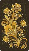 Gold Flower Pattern