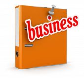Folder and Business (clipping path included)