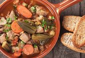 stock photo of stew  - Pork and okra gumbo - JPG