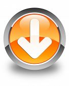 Download Icon Glossy Orange Round Button