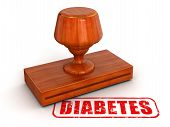 Rubber Stamp diabetes  (clipping path included)