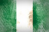 Nigeria flag painted on grunge paper