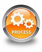 Process Glossy Orange Round Button