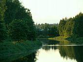 River curve in greeness