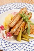 sausages with cabbage