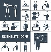 Scientist Icons Black