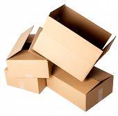 Carton boxes on a white background