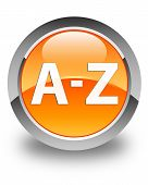 A To Z Glossy Orange Round Button
