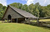 Open sided barn frame