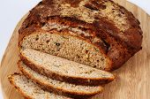 Rustic seeded wholemeal bread.