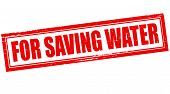 picture of save water  - Stamp with text for saving water inside vector illustration - JPG