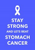 a blue stomach cancer poster