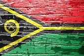 Vanuatu Flag painted