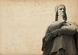 stock photo of alighieri  - Statue of Dante Alighieri  - JPG