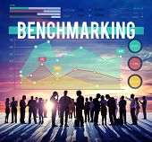 picture of benchmarking  - Benchmarking Finance Stock Marketing Business Concept - JPG